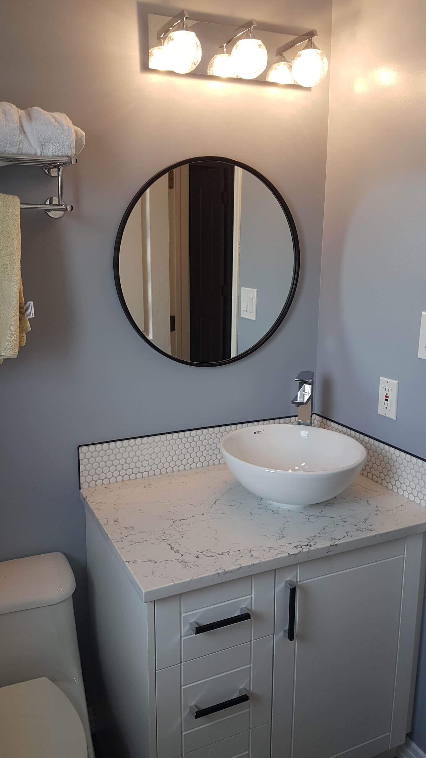 Home renovation half bathroom