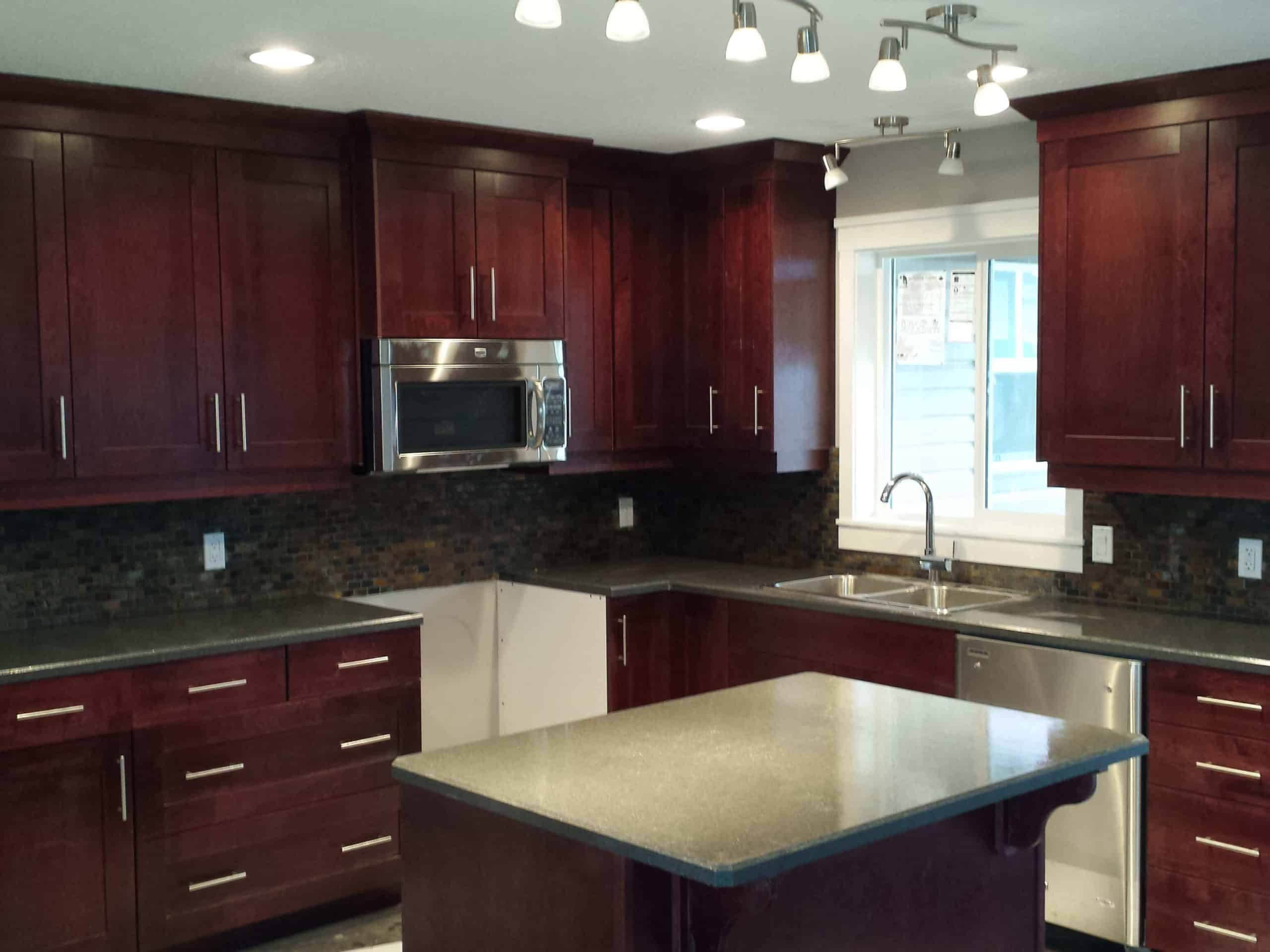 Kitchen remodel Maple cabinets