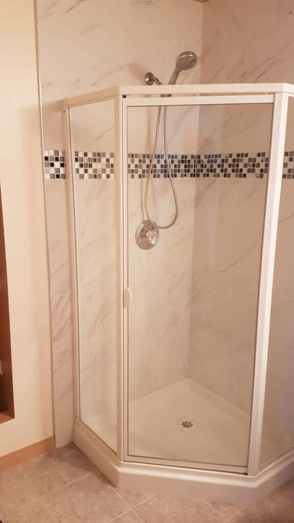 bathroom remodel-neo angle shower