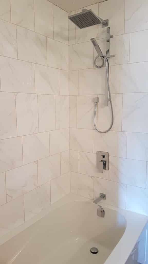 bathroom remodel-rain head shower with slide bar hand held-6ft tub